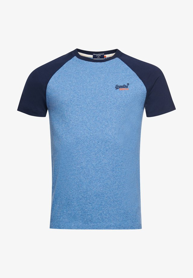 T-shirts print - bright blue grit
