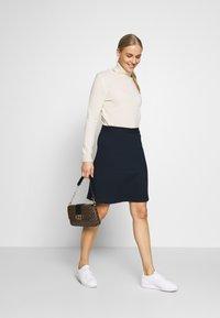 TOM TAILOR - SKIRT - A-line skirt - sky captain blue - 1