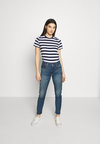 Polo Ralph Lauren - TEE SHORT SLEEVE - Print T-shirt - dark blue/white - 1