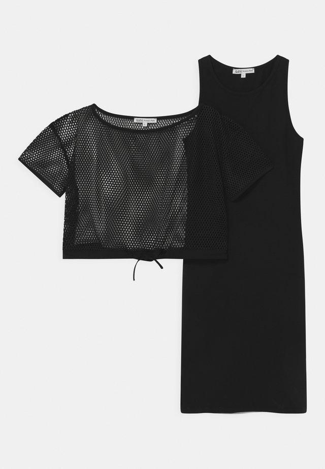 ABITO RETE 2-IN-1 - Jerseyjurk - black