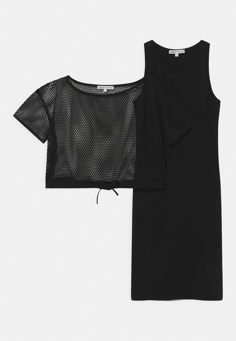 Patrizia Pepe - ABITO RETE 2-IN-1 - Žerzejové šaty - black
