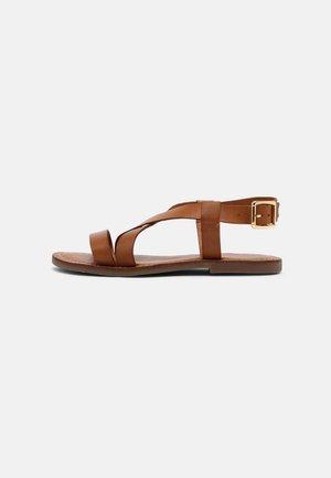 MARI - Sandals - cognac