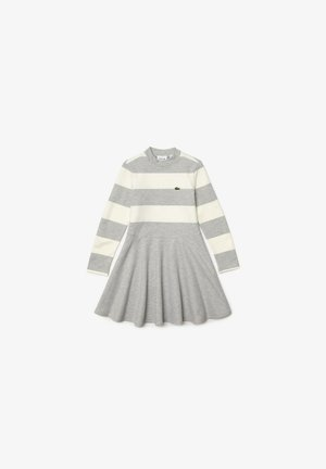 Jersey dress - gris chine/blanc