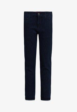 MET STREEPDESSIN - Slim fit jeans - dark blue