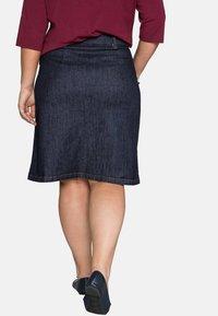 Sheego - Denim skirt - dark blue denim - 2