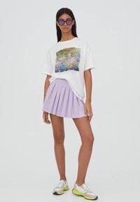 PULL&BEAR - Print T-shirt - white - 1