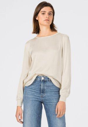 MIT STRICKBLENDEN - Long sleeved top - creme
