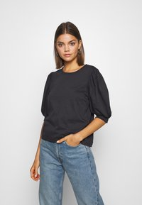 ONLY - ONLSASHA PUFF - Print T-shirt - black - 0