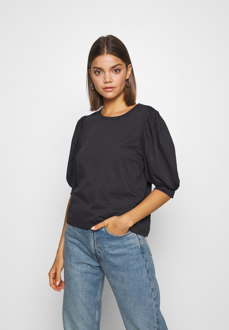 ONLY - ONLSASHA PUFF - Print T-shirt - black