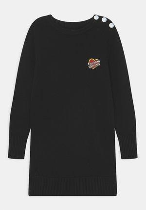 LONG SLEEVED DRESS - Gebreide jurk - black