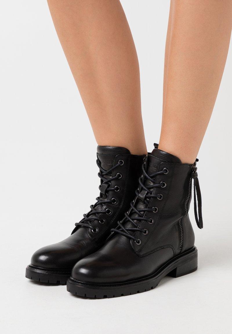 Carmela - LADIES BOOTS  - Lace-up ankle boots - black