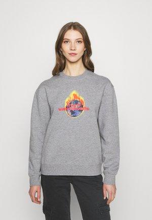 GLOBAL WARNING CREW - Sweatshirt - grey heather