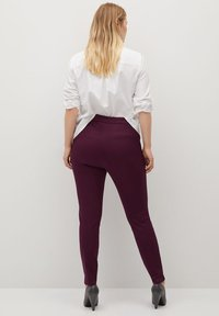 Violeta by Mango - Leggings - Trousers - weinrot - 2