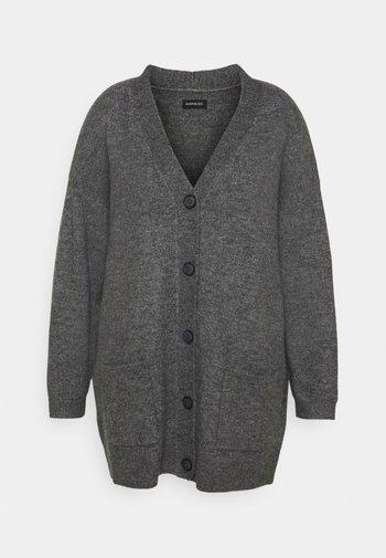 Cardigan - mottled dark grey