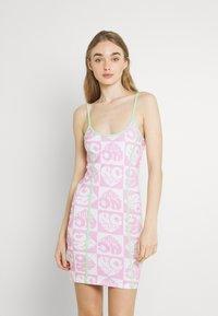 NEW girl ORDER - HEART REPEAT LOGO DRESS - Day dress - pink - 0