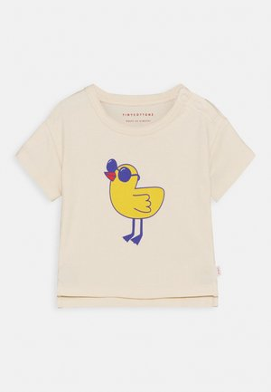 TINY BIRD BABY TEE UNISEX - Print T-shirt - light cream/yellow