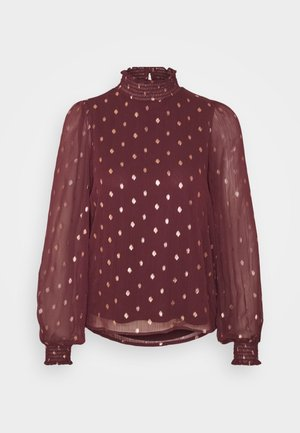 ONLISABELLA HIGHNECK - Blusa - port royale/dot/gold