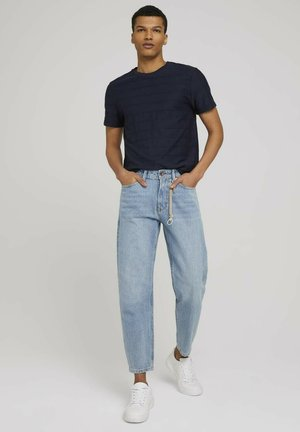 Straight leg jeans - super stone blue denim
