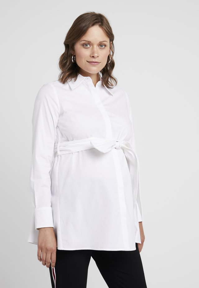 MATERNITY FLARED - Button-down blouse - bright white