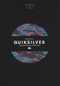 Quiksilver - NORWAY MIX FLAXTON 2 PACK - Print T-shirt - black/white - 4