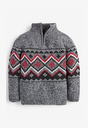 FAIRISLE PATTERN - Jumper - grey