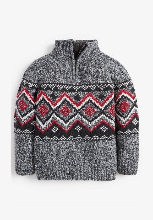 FAIRISLE PATTERN - Pullover - grey
