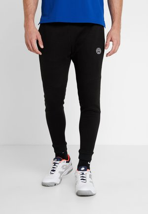 MATU BASIC CUFFED PANT - Tracksuit bottoms - black