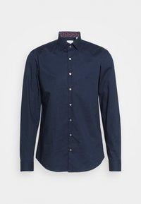 Calvin Klein Tailored - POPLIN CONTRAST SLIM - Formal shirt - navy - 0