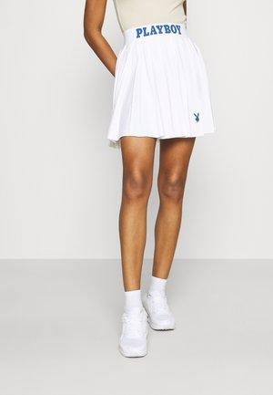 PLAYBOY SPORTS TENNIS SKIRT - Mini skirt - white
