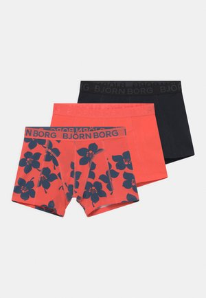 GRAPHIC FLORAL SAMMY 3 PACK - Onderbroeken - hot coral