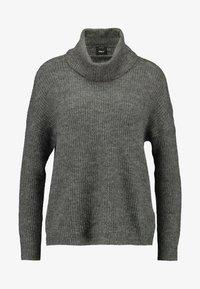 ONLY - ONLMIRNA ROLLNECK - Pullover - dark grey melange - 4