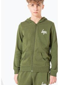 Hype - MINI SCRIPT - Zip-up hoodie - khaki - 0
