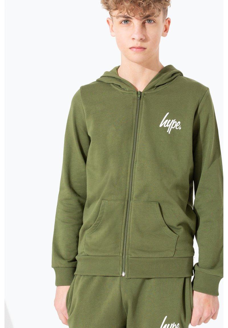 Hype - MINI SCRIPT - Zip-up hoodie - khaki