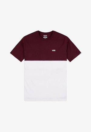 MN COLORBLOCK - Print T-shirt - white/port royale