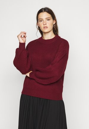 VMTUFURN  BALLOON NECK  - Jumper - cabernet