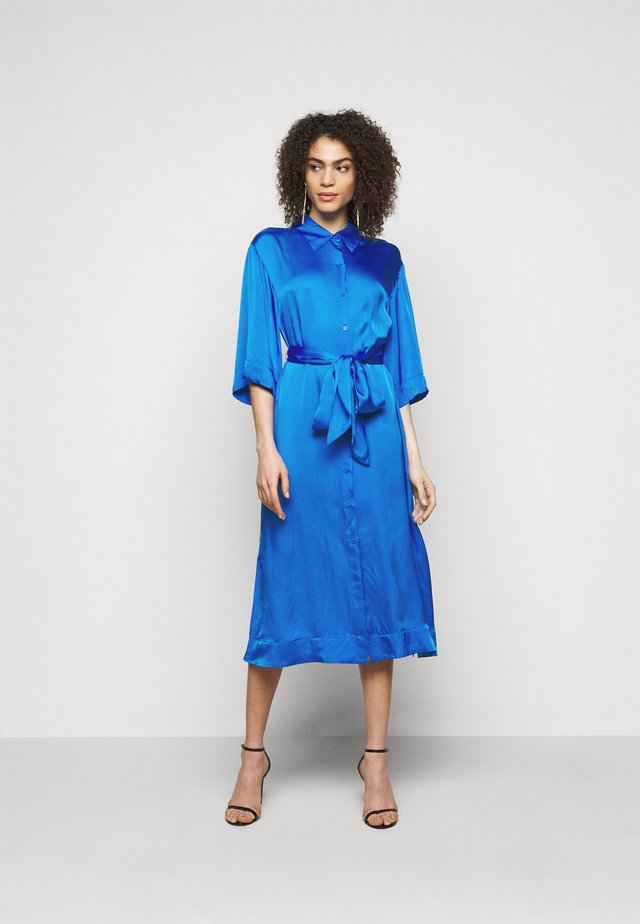 BELTED SHIRT DRESS - Juhlamekko - tanzanite