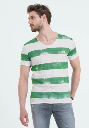 MT AIRFLIGHT - Print T-shirt - offwhite-green
