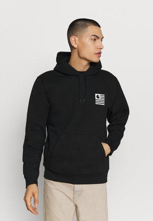 HOODED WAVING STATE FLAG - Sweat à capuche - black/white