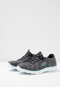 Skechers - EMPIRE SEE YA RELAXED FIT - Mocasines - black/turquoise - 4