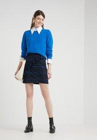 2nd Day - CAST MAXI - Mini skirt - crown blue - 1