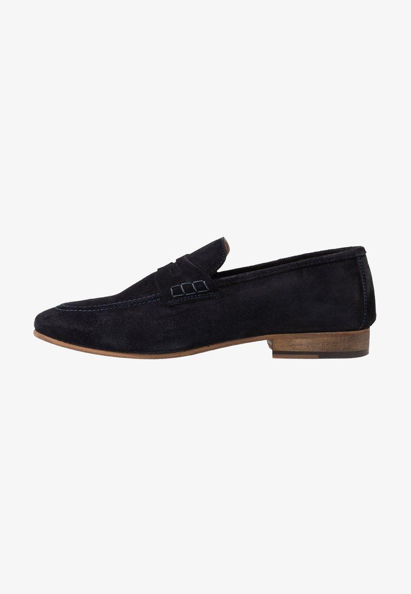 Topman - CORDEN SADDLE - Elegantní nazouvací boty - navy