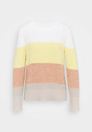 DIRECTIONAL RELAXED CREW - Jumper - bold white