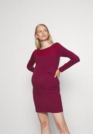 BRETON NURSING DRESS - Žerzejové šaty - wine