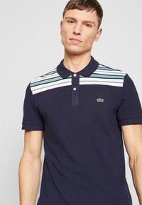 Lacoste - PH5101-00 - Polo shirt - navy blue/white/niagara blue - 5