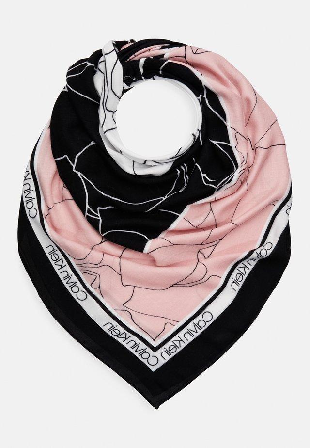 FLORAL SCARF - Šátek - black