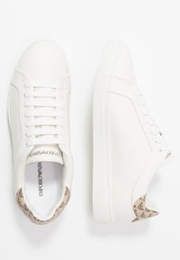Emporio Armani - PROJECT - Zapatillas - cream/taupe/dark brown - 3
