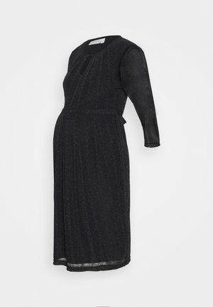 SPARKLE KEYHOLE PLEAT DRESS - Vestito elegante - black