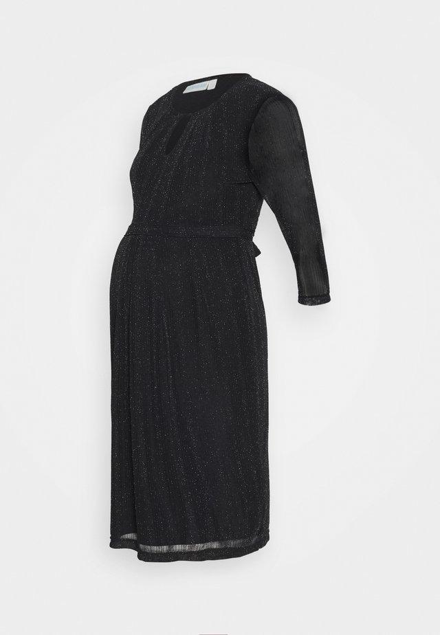 SPARKLE KEYHOLE PLEAT DRESS - Koktejlové šaty/ šaty na párty - black
