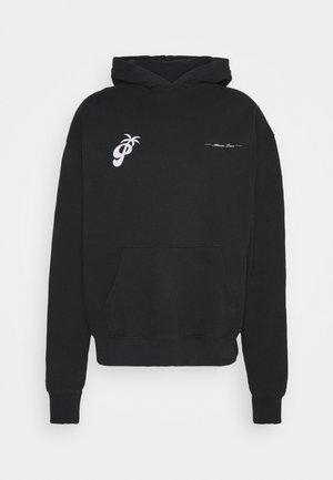 LARES OVERSIZED HOODIE UNISEX - Sweatshirt - washed black
