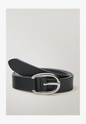 GÜRTEL AUS SCHWARZEM LEDER MIT DOPPELTER SCHNALLE 06113638 - Belt business - black